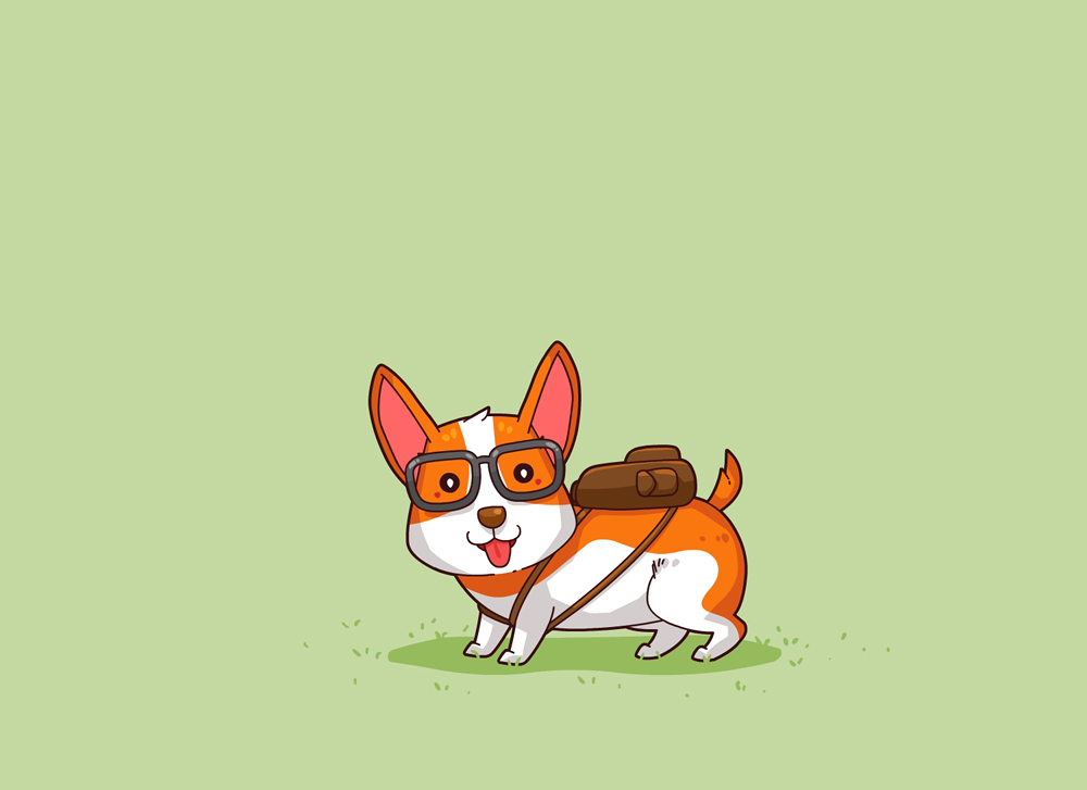 Corgi With Bag